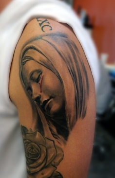 justin virgin mary healed